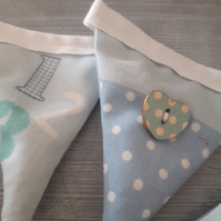 Handmade nursery bunting filled with fresh lavender