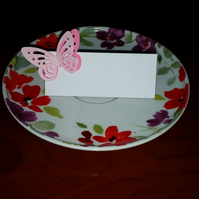 Beautiful handmade 3D butterfly place cards, x10  ideal for Weddings,ect.