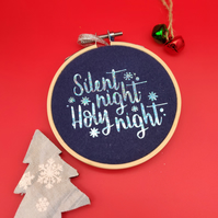 Christmas design embroidery hoop decorations