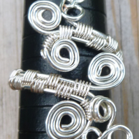 Adjustable Wire Wrapped Silver Plated Copper Ring TR04