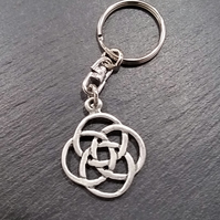 Celtic knot keyring,  ka47  28 mm wide