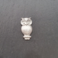 Owl pin badge,  pp44  25mm tall