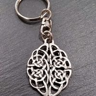 Celtic knot keyring  ka33,  35 mm long