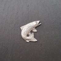Trout pin badge,   30mm wide