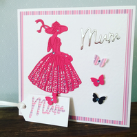 Handmade card for a special Mum.