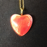 Pink Heart Pendant Shaped Corded Necklace
