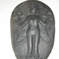 LILITH GODDESS EARTHENWARE WALL PLAQUE 20 CMS X 13 CMS