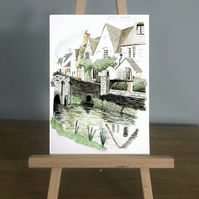 Blank Card - Traditional English Village