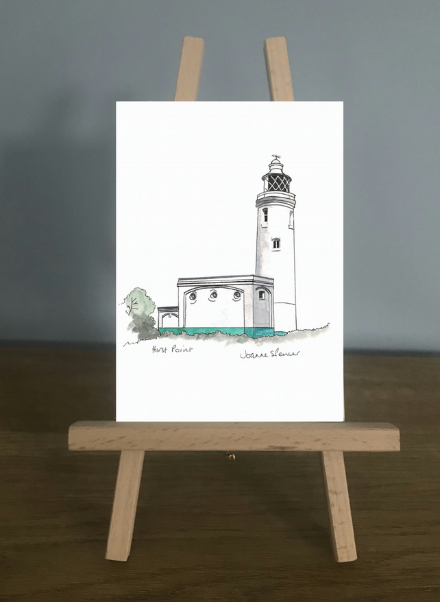 Blank Card, Hurst Point Lighthouse