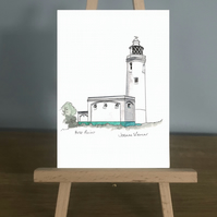 Card, Hurst Point Lighthouse