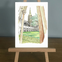 Blank Card - Salisbury Cathedral