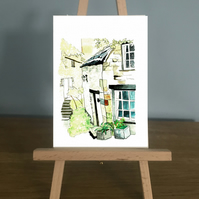 Blank Card - Barton Steps a traditional English Country Cottage