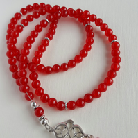 99 Beads Red Ruby Tasbeeh. Tasbih. Misbaha. Mala. Praying Beads