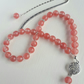 Cherry Quartz Tasbih and Quran Mark Gift Set
