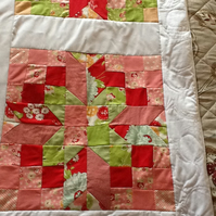 "Lovely Square Star Jelly Roll Patchwork Quilt 54"" x 54"" app"