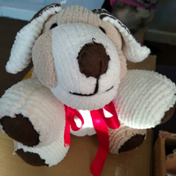 Hand made Dog soft toy.