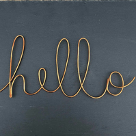 Custom wire word, personalised wall art in choice of font, design your own sign