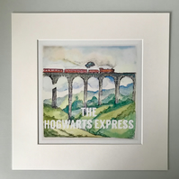 Illustrated Hogwarts Express Harry Potter Print Personalised UK
