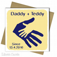 Personalised Birthday Card. Father Birthday Card. Dad Daddy Birthday Card.