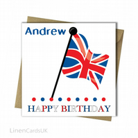 Personalised Birthday Card.