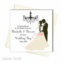 Personalised Wedding Day Card.