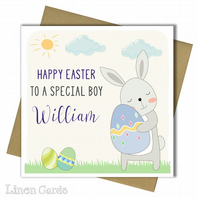 Personalised Easter Card. Easter Card For Son Grandson Godson Brother