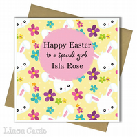 Personalised Easter Card. Easter Card For Daughter Granddaughter Sister