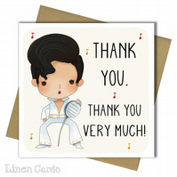 Thank You Card. Elvis Thank You Card.