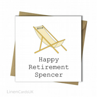 Personalised Retirement Card.