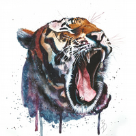 Original Watercolour Painting, Tiger Painting