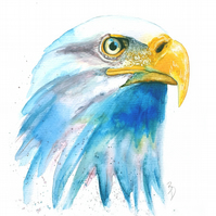 Original Watercolour Painting, Eagle, Painting