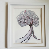 Embroidered Tree