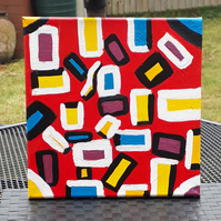 Acrylic abstract original painting - Allsorts - Folksy