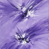 Abstract arylic original painting burst of colour purple - Folksy
