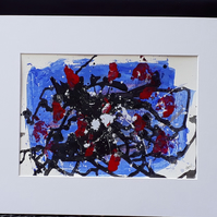 Love potion, original acrylic abstract painting in mount ready to frame - Folksy