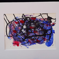 Memory Spell, original abstract acrylic painting in mount - folksy,com