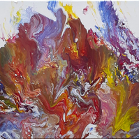 SALE Acrylic pour abstract original painting on double primed canvas  Folksy.com