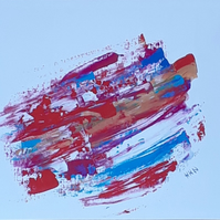 A4 print of original acrylic abstract painting 'In a Blur'  - Folksy