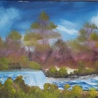 River Walk, original oil painting on gallery wrap canvas - Folksy.com