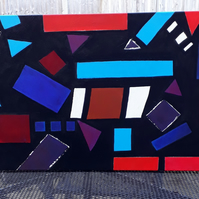London Roads, original acrylic abstract on double primed chunky canvas - Folksy