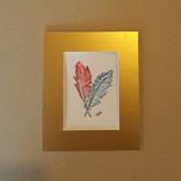 Lucky Feathers, ACEO, Original Design - Folksy.com
