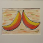 Bizarre Bananas, pen & Ink drawing in white mount ready to frame