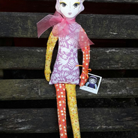 Fantasy Autumn Whimsy  fabric doll