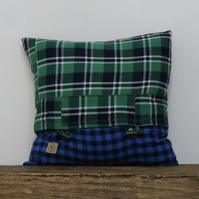 Green plaid Cushion