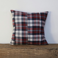 Red plaid cushion