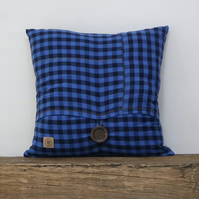 Blue check Cushion
