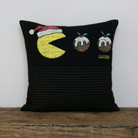 Pac Man Christmas Cushion