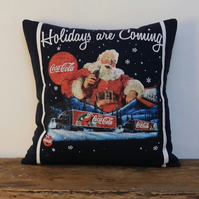 Coca Cola Christmas Cushion