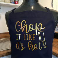 Chop it like its hot  barbeque apron