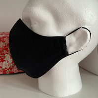 Adult Face Mask Black Free UK PP Cotton Reusable